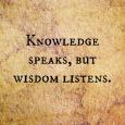Knowledge speaks