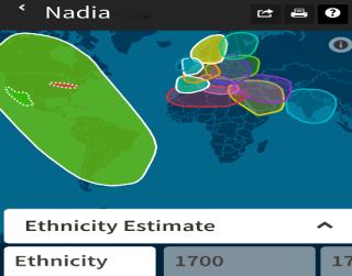 Brooke's daughter's ethnicity estimate