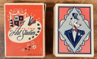 Naked lady playing cards