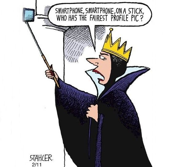 Smartphone on a stick