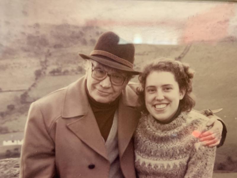Bridget Murphy and her grandfather